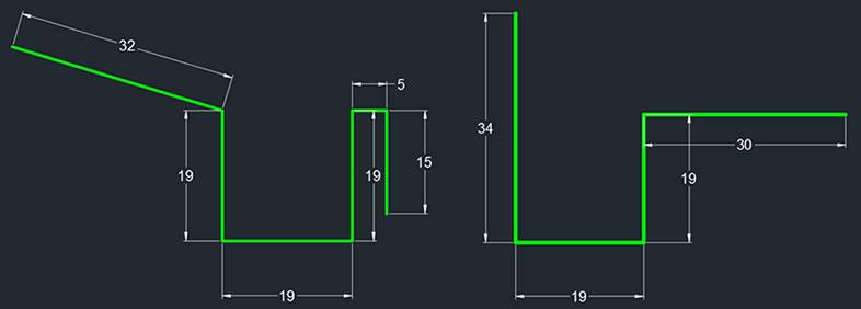 Perfil de canaleta de fibra de vidrio